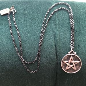 Jewelry - REAL SILVER PENTAGRAM NECKLACE